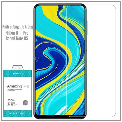 Kính cường lực cho Xiaomi Redmi Note 9S - Note 9 Pro trong suốt Nillkin H+Pro