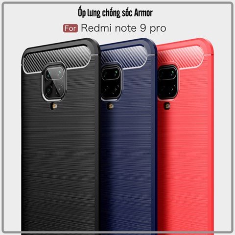 Ốp lưng cho Xiaomi Redmi Note 9S - Redmi Note 9 Pro Chống sốc - Rugged Armor