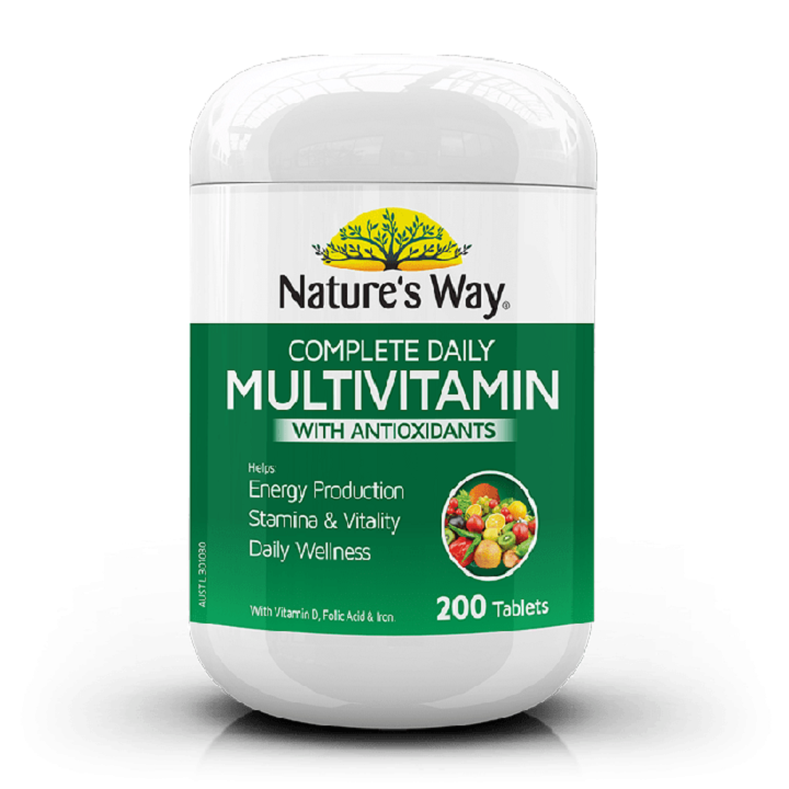 Vitamin tổng hợp Natures Way Multivitamin With Antioxidants - 200 viên