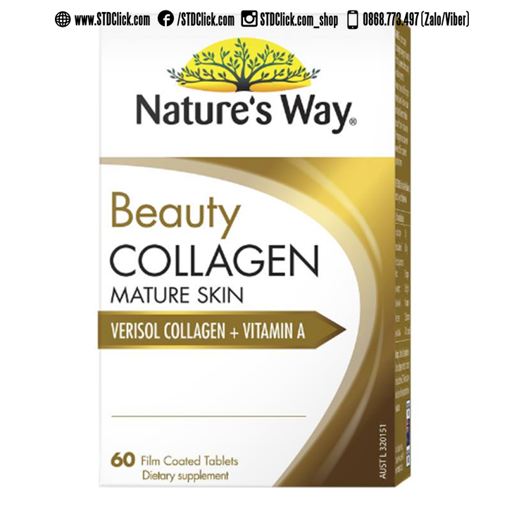 Viên uống Natures Way Beauty Collagen Mature Skin - 60 viên