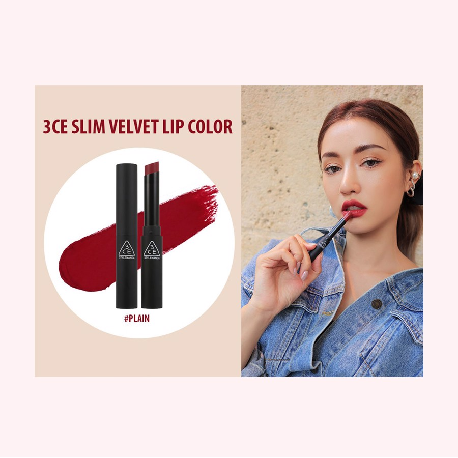 SON 3CE SLIM VELVET LIP COLOR - PLAIN