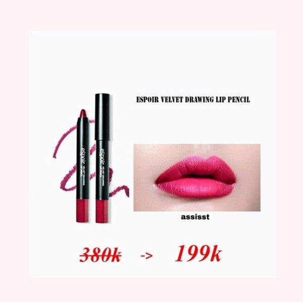 SON BÚT CHÌ ESPOIR VELVET DRAWING LIP PENCIL - ASSITANT