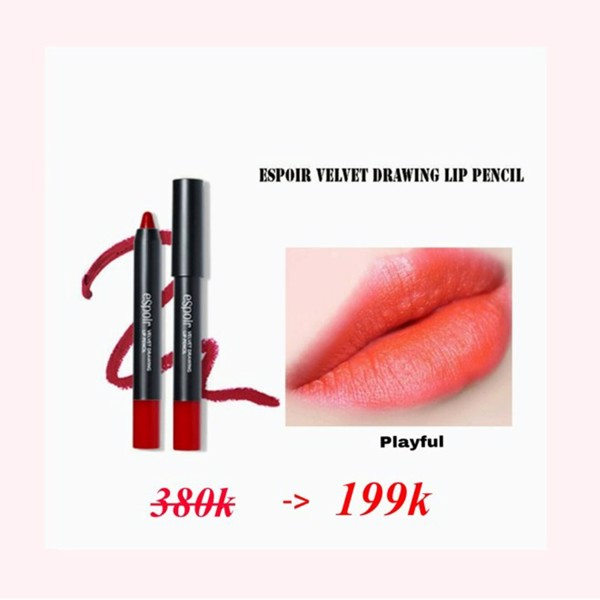 SON BÚT CHÌ ESPOIR VELVET DRAWING LIP PENCIL - PLAY POOL