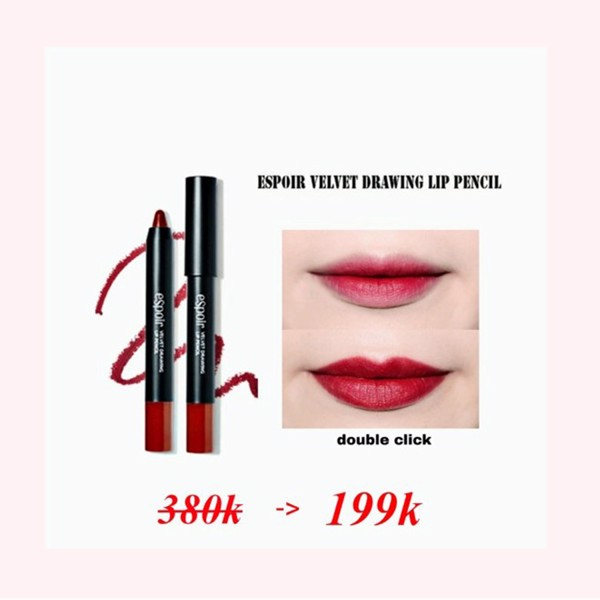 SON BÚT CHÌ ESPOIR VELVET DRAWING LIP PENCIL - DOUBLE CLICK