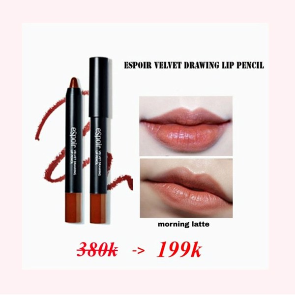 SON BÚT CHÌ ESPOIR VELVET DRAWING LIP PENCIL - MORNING LATTTE