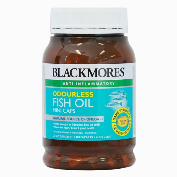 DẦU CÁ BLACKMORE FISH OIL ODOURLESS MINICAPS 1000mg