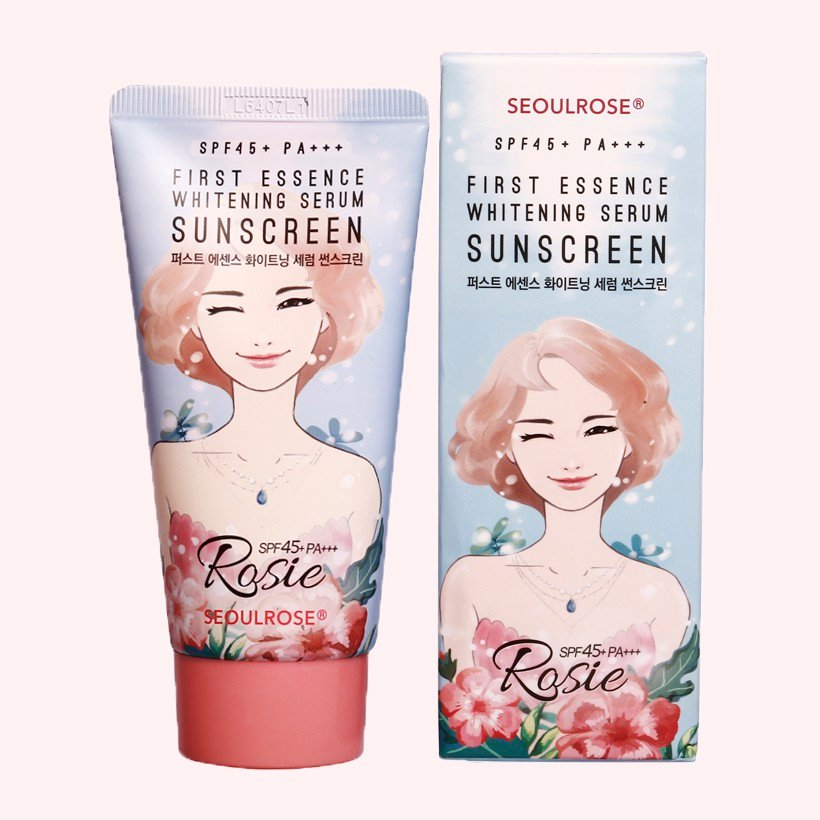 KEM CHỐNG NẮNG ROSIE SEOUL ROSE FIRST ESSENCE WHITENING SERUM SUNSCREEN SPF45+/ PA+++