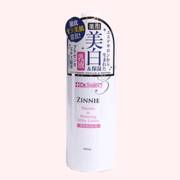 SỮA DƯỠNG Dr. SELECT ZENNIE PLACENTA IN WHITENING MILKY LOTION