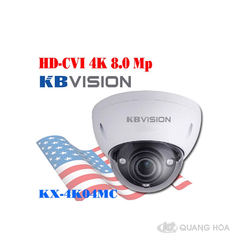 Camera KBVISION HDCVI4K (8.0MP) KX-4K04MC