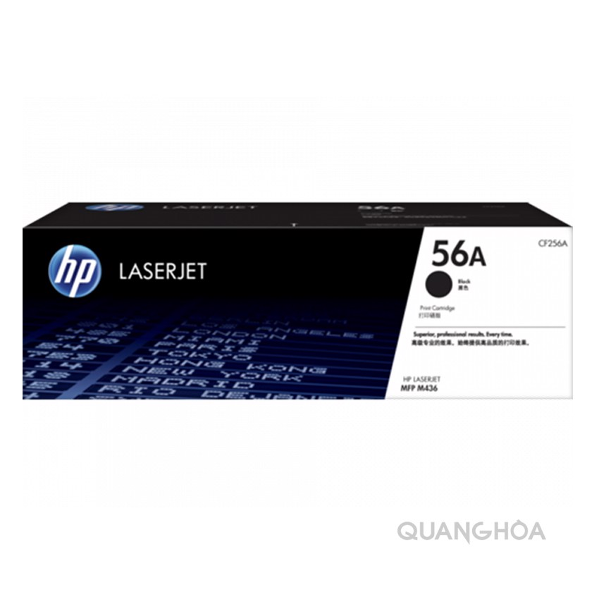 HP 56A Black Original LaserJet Toner Cartridge (CF256A)