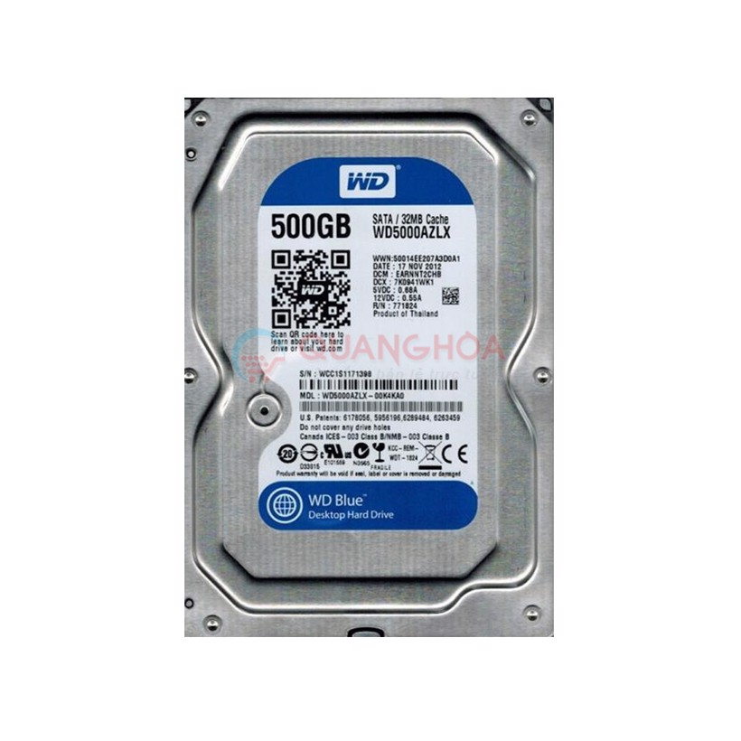 Ổ cứng WD 500GB-5000AZLX