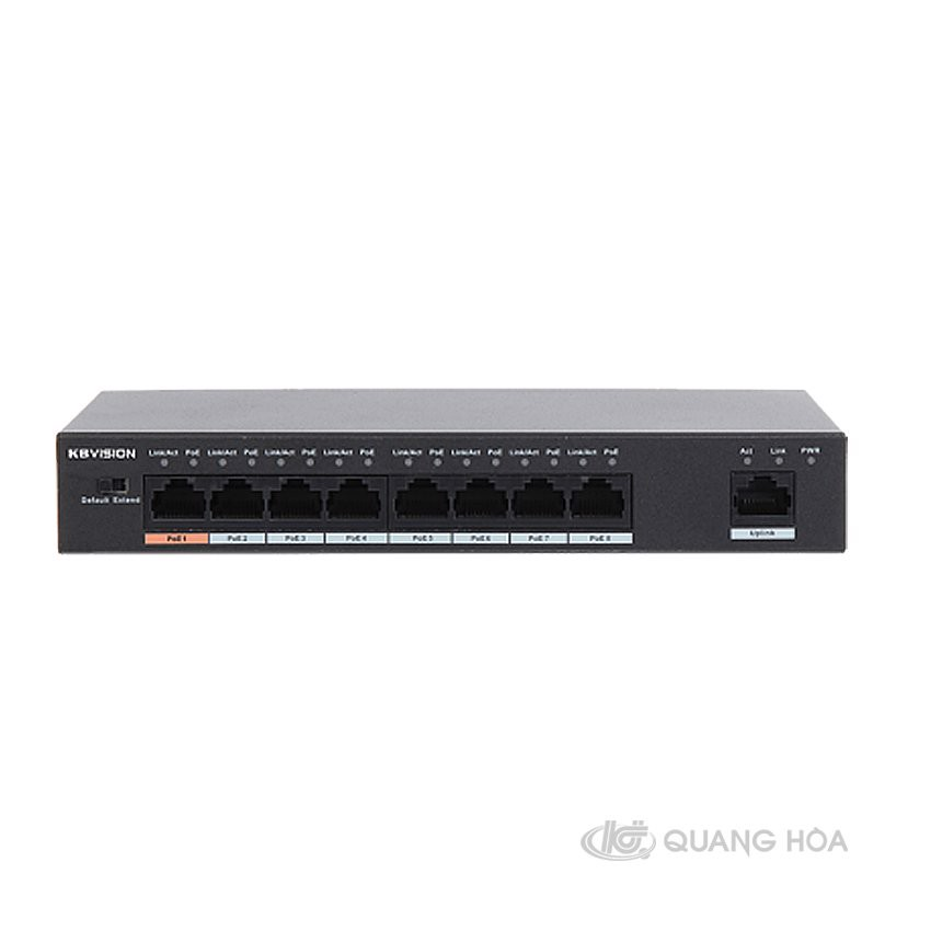 8-port 10/100Mbps PoE Switch KBVISION KX-SW08P1