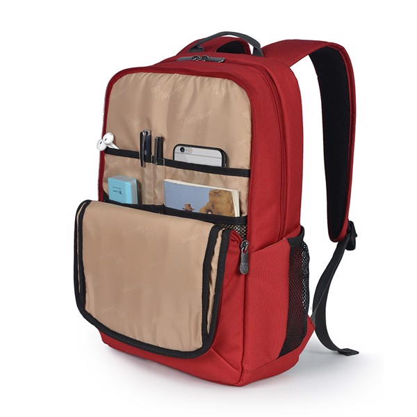 Ngăn trước Balo The Edwin Backpack Red