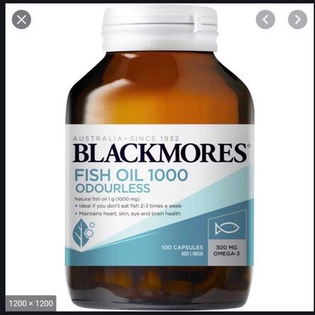 Blackmores Fish Oil 1000 Odourless 100 viên