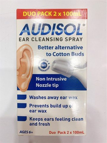 Audisol ear cleasing Spray 2* 100ml