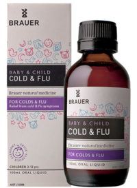 Siro trị cảm cúm Brauer Baby & Child Cold & Flu 100mL