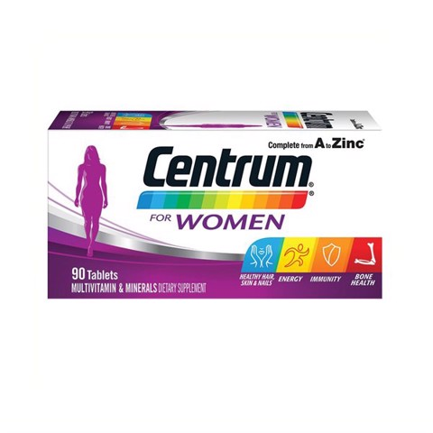 Vitamin Tổng Hợp Cho Phụ Nữ  Centrum For Women 90 Tablets Exclusive Size