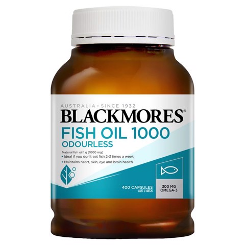 Blackmores Fish Oil Odourless 400 VIÊN