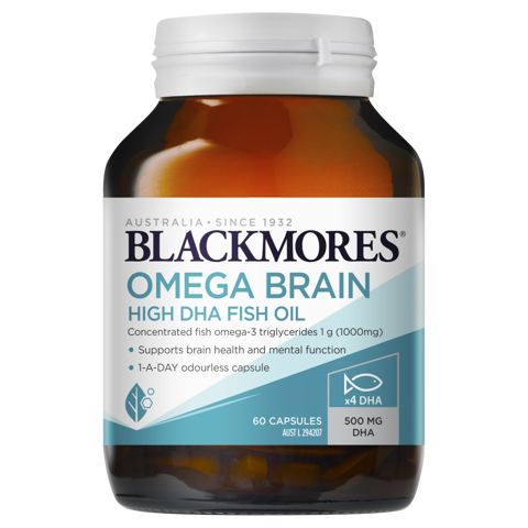 Blackmores Omega Brain High DHA Fish Oil 60 viên