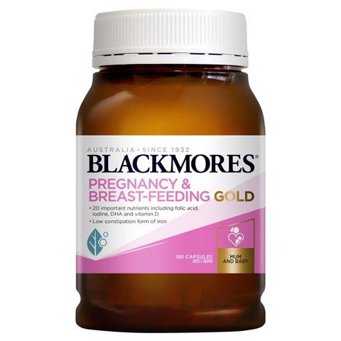 Blackmores Pregnancy Breast Feeding Gold 180