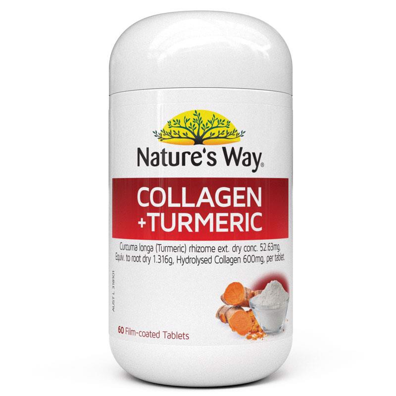 Nature's Way Super Foods Collagen Plus Turmeric 60 Tablets