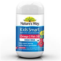 Nature's Way Kids Smart Omega 3 Fish Oil Strawberry 50 viên