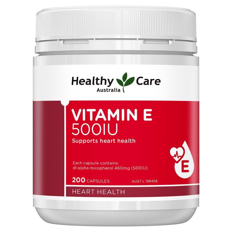 Healthy care Vitamin E 500IU 200 viên