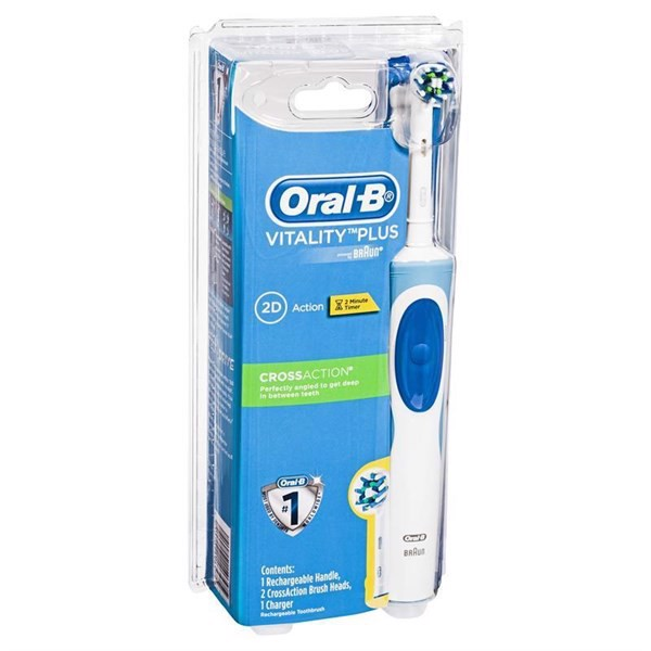 Oral B Vitality Cross Action Power Electric Toothbrush +2 Refills