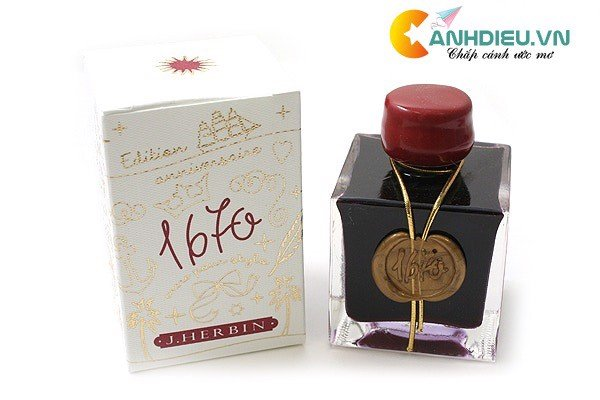 J. Herbin Rouge Hematite Ink - 1670 Anniversary - 50 ml Bottle