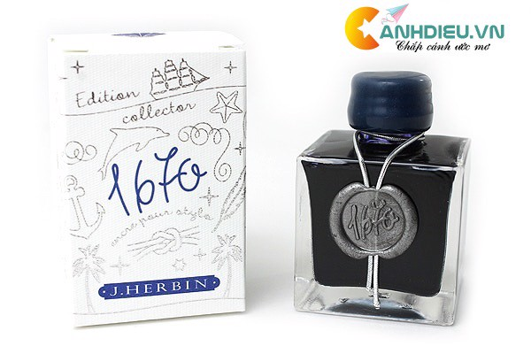 J. Herbin Bleu Ocean Ink - 1670 Anniversary - 50 ml Bottle