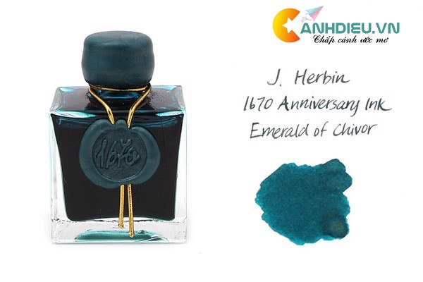 J. Herbin Emerald of Chivor Ink - 1670 Anniversary - 50 ml Bottle