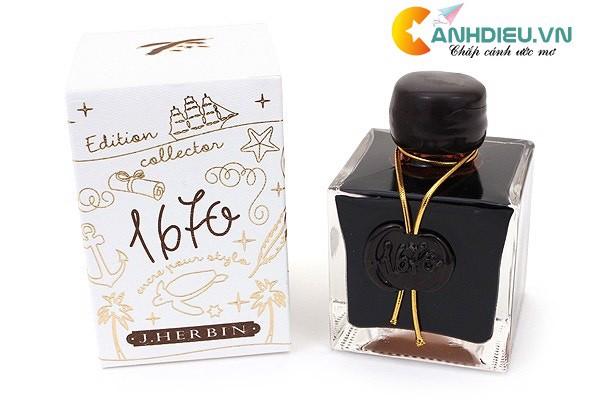 J. Herbin Caroube de Chypre Ink - 1670 Anniversary - 50 ml Bottle