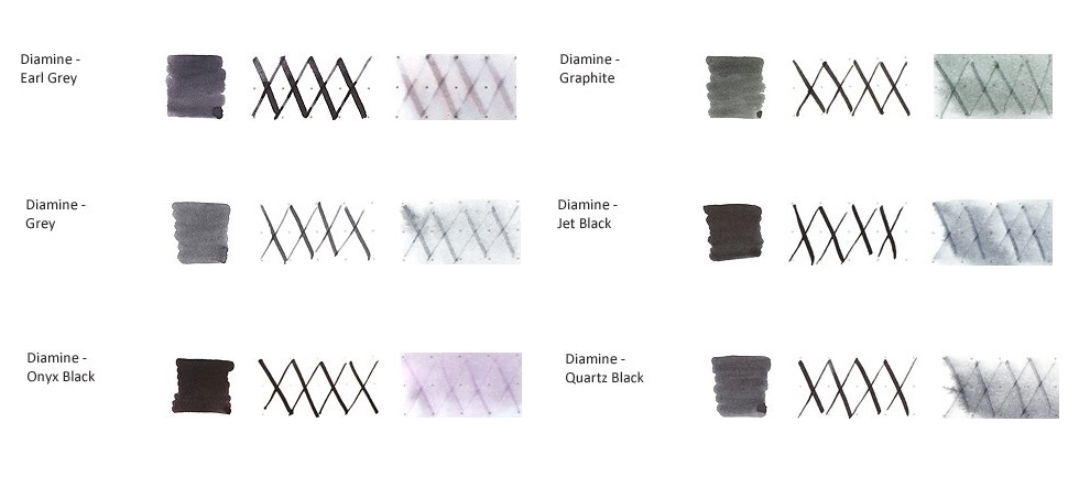 Mực Diamine 30ml (Black-Gray)