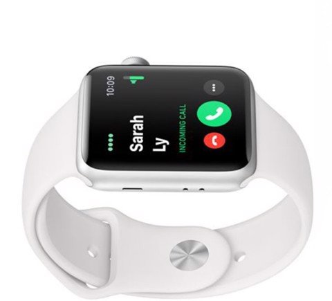 MTF22VN/A Apple Watch Series 3 GPS, 42mm Silver Aluminium Case with White Sport Band