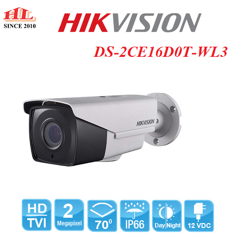 CAMERA HDTVI 2MP DS-2CE16D0T-WL3