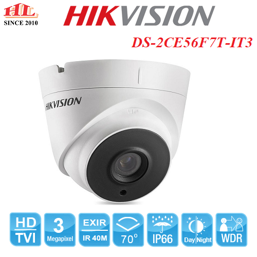 CAMERA DOME HỒNG NGOẠI TURBO DS-2CE56F7T-IT3