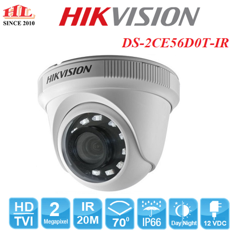 CAMERA HDTVI DOME DS-2CE56D0T-IR (2.0MP)