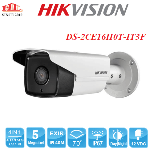 CAMERA HDTVI 5MP HIKVISION DS-2CE16H0T-IT3F