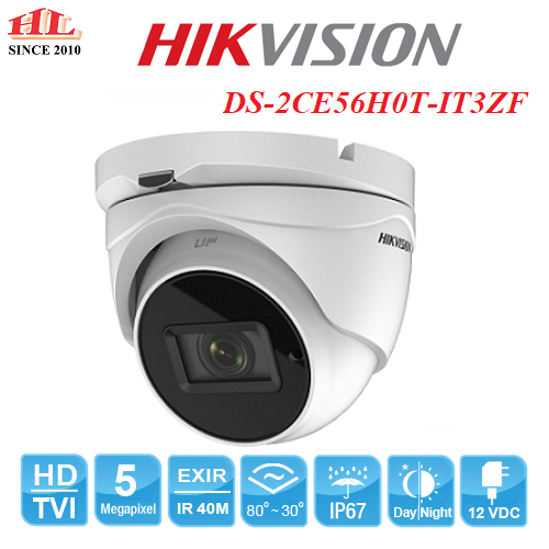 CAMERA DOME HDTVI 5MP HIKVISION DS-2CE56H0T-IT3ZF