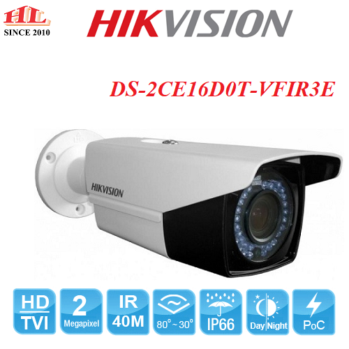 CAMERA HDTVI 2MP HIKVISION DS-2CE16D0T-VFIR3E