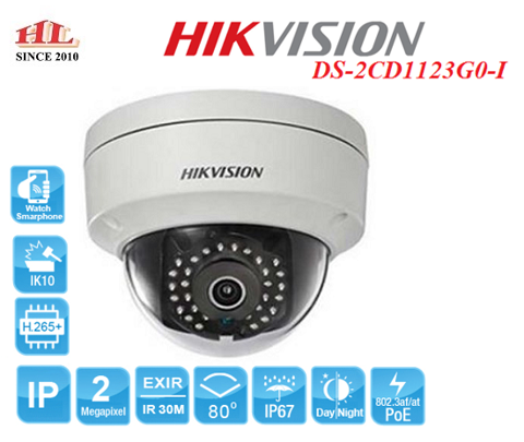 CAMERA IP DOME 2MP HIKVISION DS-2CD1123G0-I