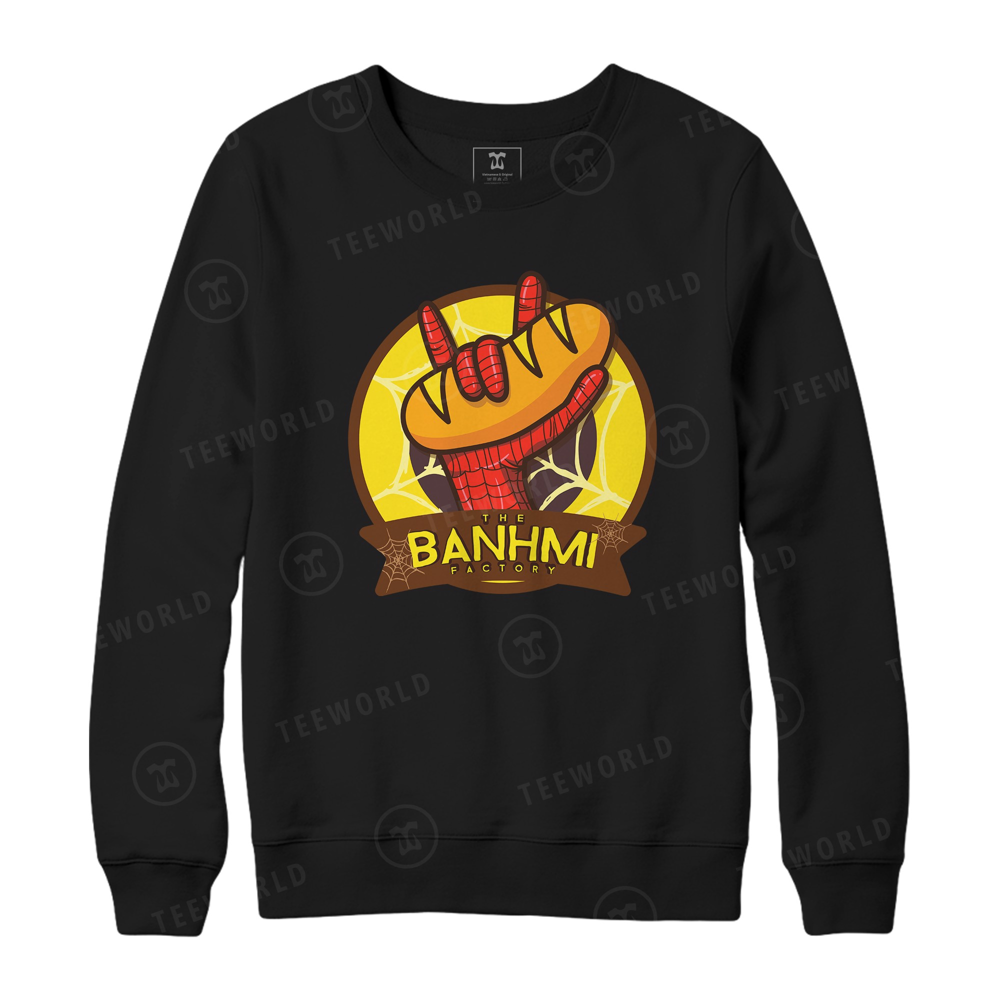 Spider Man Hand X The Banhmi Factory Sweater