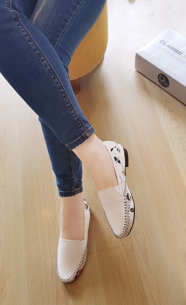 GIÀY MỌI MOCCASIN SLIP FLORAL W CMS001FW
