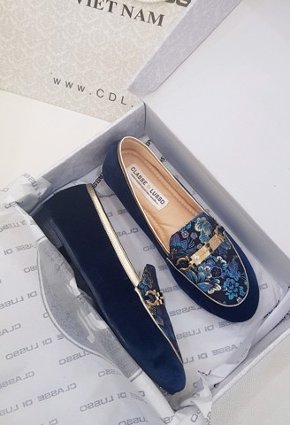 LOAFER IRIS FLORAL COBAN LOA01CB