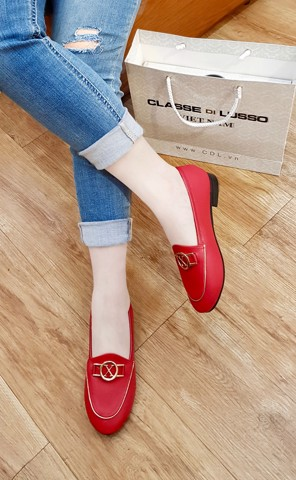 LOAFER IRIS MARK X ĐỎ LOA04MX