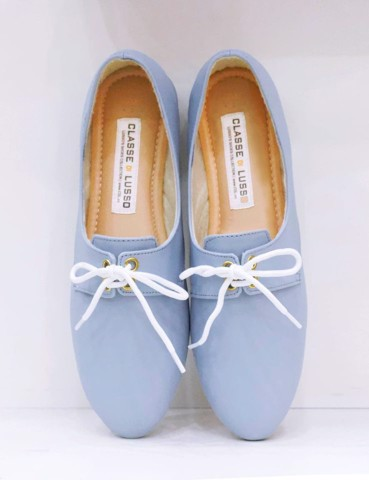 GIÀY BÚP BÊ LOAFER OXFORD LIGHT BLUE CLO3012LB
