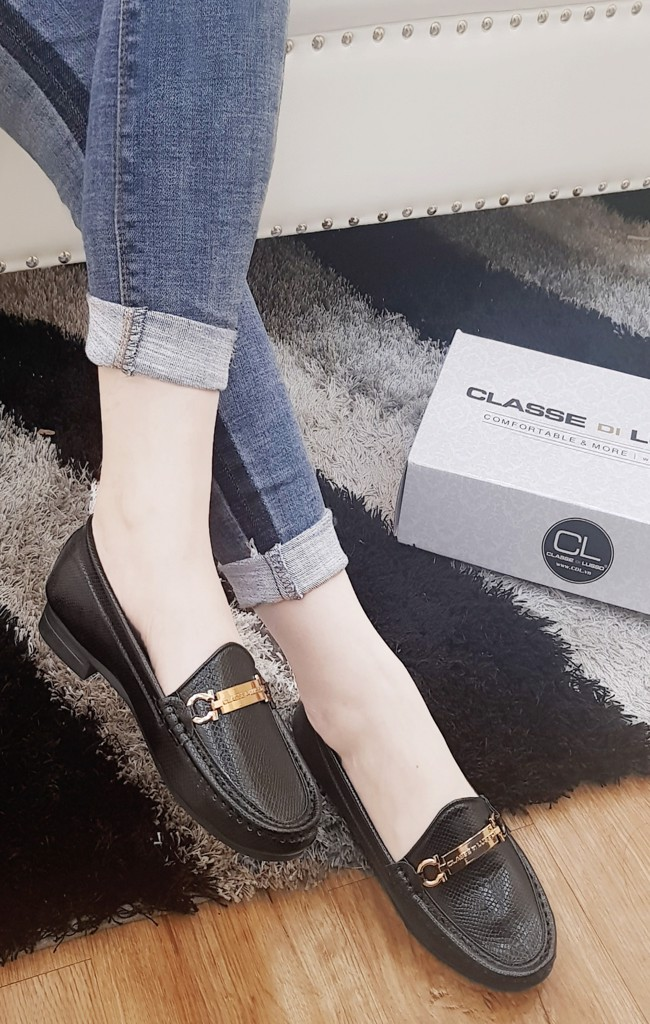 GIÀY MỌI MOCCASIN DILUSSO ĐEN CM011B