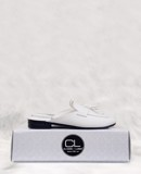 SLIPPER MOCCASIN HELIOS WHITE SPM002W
