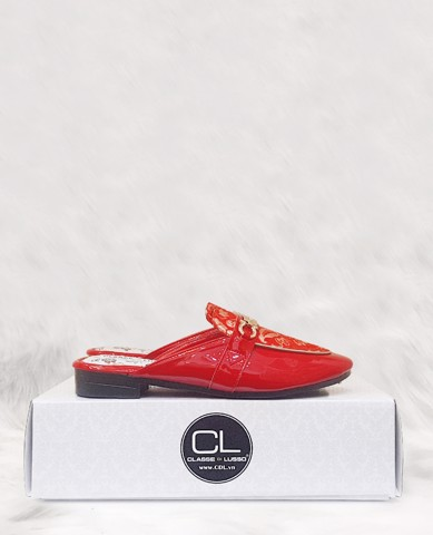 SLIPPER MOCCASIN YANXI RED SPM003R [LIMITED EDITION]