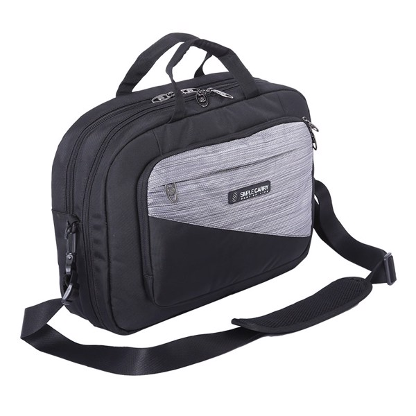 BAG P MESSENGER GREY/BLACK